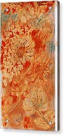Orange Fantasia Acrylic Print by Anne-Elizabeth Whiteway