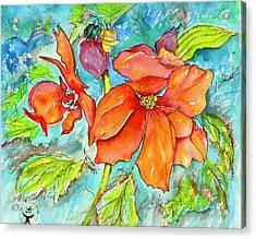 Orange Fire Flower Acrylic Print