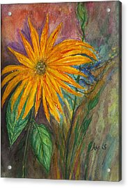 Orange Flower Acrylic Print by Anais DelaVega