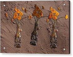 Orange Flowers Embedded In Adobe Acrylic Print