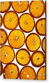 Orange Fresh Acrylic Print by Vitaliy Gladkiy
