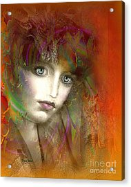 Orange Glow Acrylic Print by Doris Wood