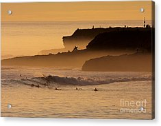 Acrylic Print featuring the photograph Orange Glow by Paul Topp