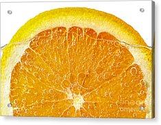 Orange In Water Acrylic Print