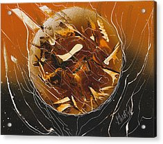 Orange Inferno Acrylic Print by Jason Girard