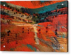 Orange Intermezzo Acrylic Print