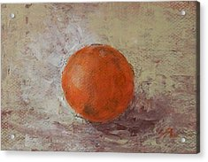 Acrylic Print featuring the painting Orange by Jane  See