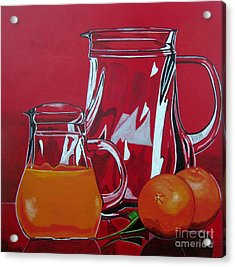 Orange Juggle Acrylic Print by Sandra Marie Adams