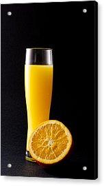 Orange Juice Acrylic Print by Gergana Chakalova