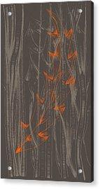 Orange Leaf Acrylic Print by Lori Ulatowski