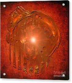 Acrylic Print featuring the digital art Orange Light by Alexa Szlavics