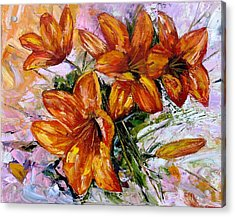 Orange Lilies Acrylic Print