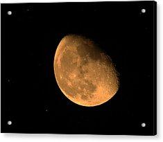 Orange Moon Acrylic Print