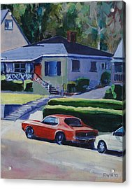 Orange Mustang Acrylic Print