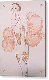 Orange Organza Acrylic Print by Christine Corretti