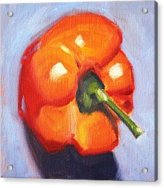 Orange Pepper Still Life Acrylic Print