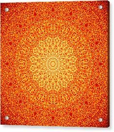 Orange Quasicrystal Acrylic Print