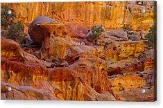 Orange Rock Formation Acrylic Print by Jeff Swan