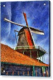 Orange Sails Acrylic Print by Rick Lloyd