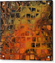 Orange Sea  Acrylic Print by Andrada Anghel