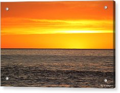 Orange Sherbet Acrylic Print