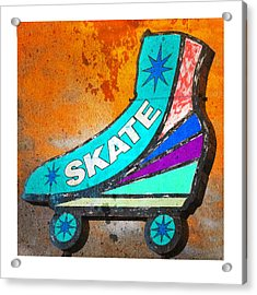 Orange Skate Acrylic Print by Gail Lawnicki