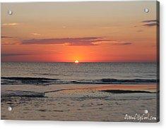 Acrylic Print featuring the photograph Orange Sky Dawn by Robert Banach