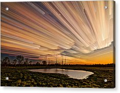 Orange Sky Acrylic Print by Matt Molloy