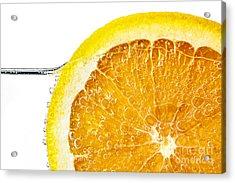 Orange Slice In Water Acrylic Print