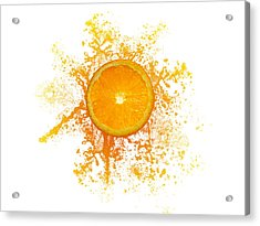 Orange Splash Acrylic Print by Aged Pixel