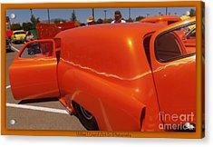 Orange Splash Panel Acrylic Print by Bobbee Rickard