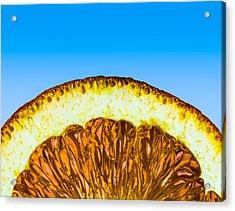 Orange Sunrise Acrylic Print by Alexander Senin