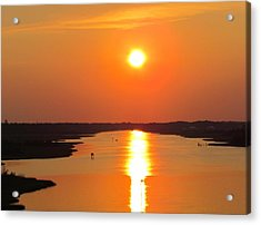 Acrylic Print featuring the photograph Orange Sunset by Cynthia Guinn