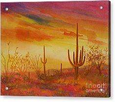 Orange Sunset Acrylic Print by Summer Celeste