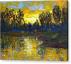 Orange Swamp Acrylic Print