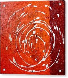 Orange Swirl Acrylic Print