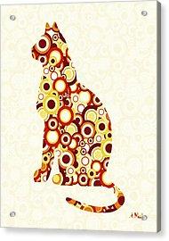 Orange Tabby - Animal Art Acrylic Print by Anastasiya Malakhova