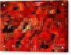 Orange Under Glass Abstract Acrylic Print by Carol Groenen
