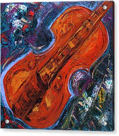 Orange Violin II  Acrylic Print by Oscar Penalber