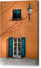 Acrylic Print featuring the photograph Orange Wall  by Uri Baruch