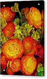 Orange Yellow Rose Pouquet Acrylic Print