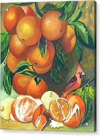 Oranges And Lemons Acrylic Print by Susan Robinson