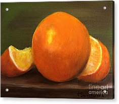 Oranges Acrylic Print by Carol Sweetwood