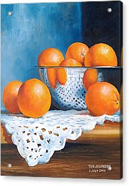 Oranges Acrylic Print by Tim Johnson