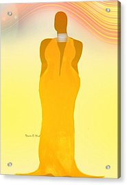 Orangewavechic Acrylic Print by Romaine Head