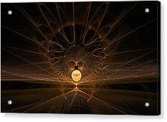 Acrylic Print featuring the digital art Orb by GJ Blackman