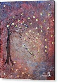Orb Oak Acrylic Print by Denise Tomasura