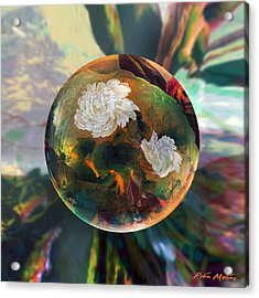 Acrylic Print featuring the painting Oriental Abstract  by Robin Moline