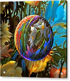 Orbing Aloha Lei Acrylic Print