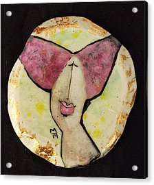 Orbis Woman With Pink Hair  Acrylic Print by Mark M  Mellon